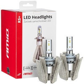 Żarówki LED AMIO LED headlight RS+ H8 / H9 / H11 12/24V 50W (6000K, canbus)