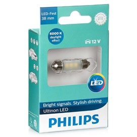 Żarówka LED PHILIPS Ultinon LED C5W / C10W 38mm 12V 0.6W (6000K)