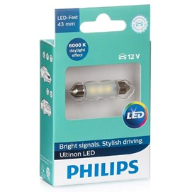 Żarówka LED PHILIPS Ultinon LED C5W / C10W 43mm 12V 0.6W (6000K)