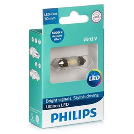 Żarówka LED PHILIPS Ultinon LED C5W / C10W 30mm 12V 0.6W (6000K)