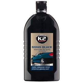 Czernidło do gumy i plastiku K2 Bono Black 500ml