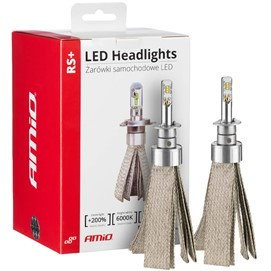 Żarówki LED AMIO LED headlight RS+ H1 12/24V 50W (6000K, 3500lm, canbus)